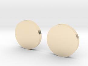White Lantern Cuff Links in 14k Gold Plated Brass
