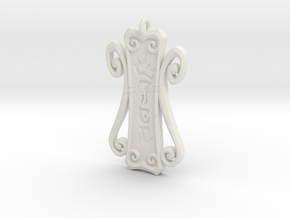 Runic Amulet 01 - 60mm in White Natural Versatile Plastic