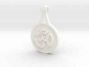 Om Pendant in White Processed Versatile Plastic