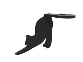 "Bracket ""Cat"" (left) in Black Natural Versatile Plastic"