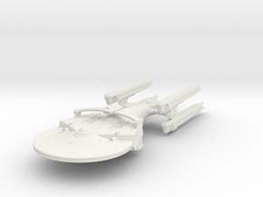 Coeur De Lion Class BattleShip in White Strong & Flexible