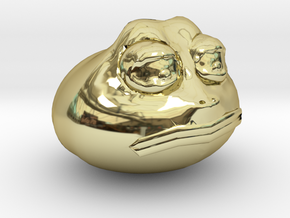 Premium Meme-Of-The-Year Limited Edition Gold Pepe in 18k Gold Plated Brass