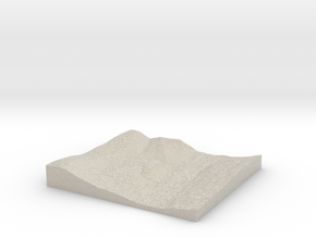 Model of Phelps Dam in Natural Sandstone