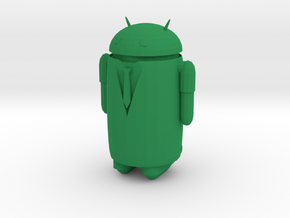 Android businessman in Green Processed Versatile Plastic