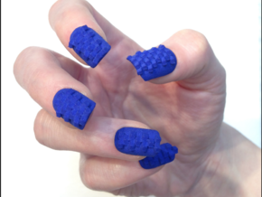 Cube Nails (Size 1)  in Blue Processed Versatile Plastic
