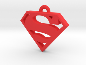 Superman Keychain 2.0 in Red Processed Versatile Plastic