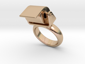 Toilet Paper Ring 29 - Italian Size 29 in 14k Rose Gold Plated Brass