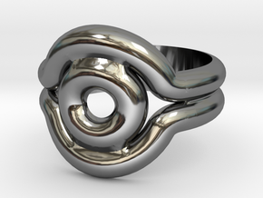 Shadow Ring - Style 2 in Fine Detail Polished Silver