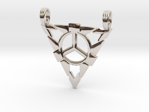 LIONESS RISING (dual bail) in Rhodium Plated Brass