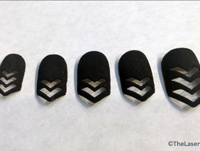 Chevron Nails (Size 1) in Black Strong & Flexible