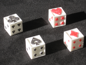 Ace Dice in White Natural Versatile Plastic