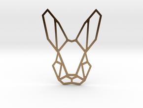 Mr. Rabbit Pendant in Raw Brass