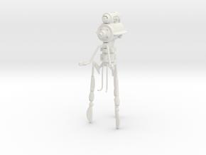 """AQ03 Martian Dominator Tripod (7.4"""") in White Natural Versatile Plastic"""