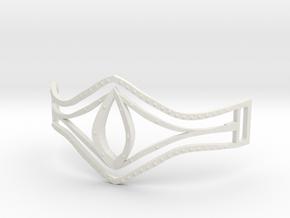 Eye Of Pharaoh Bracelet in White Natural Versatile Plastic