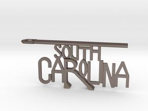 South Carolina Bottle Opener Keychain in Stainless Steel