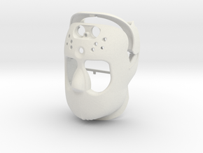 Robot Face in White Natural Versatile Plastic