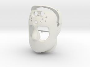 Robot Face in White Natural Versatile Plastic