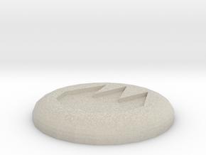 Fire Rune in Natural Sandstone