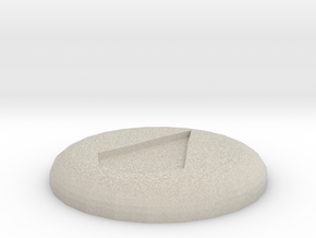 Water Rune in Natural Sandstone