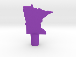 Wine Stopper of Minnesota in Purple Processed Versatile Plastic