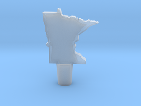 Wine Stopper of Minnesota in Smooth Fine Detail Plastic