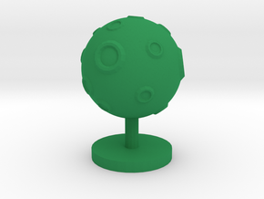 Game Piece, Moon, cratered in Green Processed Versatile Plastic