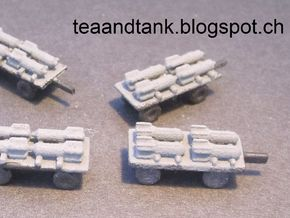 1/144 German bomb transportation set in White Natural Versatile Plastic