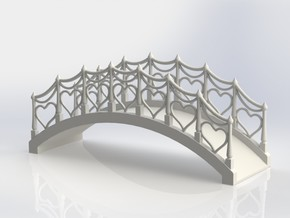 Wedding Cake Bridge in White Processed Versatile Plastic