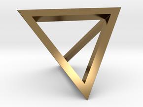 Tetrahedron Pendant in Polished Bronze