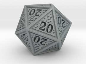 Hedron D20 (All 20's version) Solid in Polished Metallic Plastic