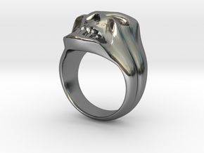 SKULL RING in Fine Detail Polished Silver