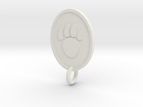 Claw Pendent in White Natural Versatile Plastic