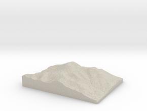 Model of Mount Washington in Natural Sandstone