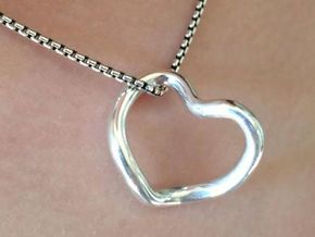 Infinity Heart  in Fine Detail Polished Silver