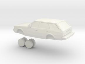 1/24 1980-1983 toyota corolla wagon in White Natural Versatile Plastic