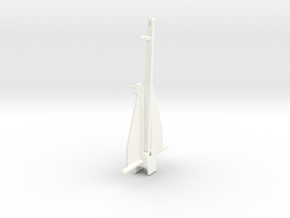 B15F Danforth Anchor, Plastic in White Processed Versatile Plastic