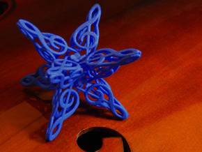 Treble Clefs #2 in Blue Processed Versatile Plastic