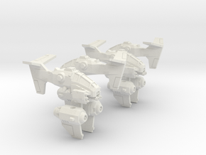 6mm RainClaw VTOL Gunship (4pcs) in White Natural Versatile Plastic