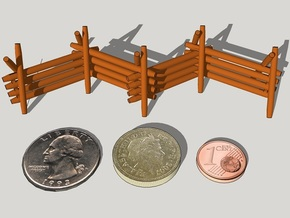 28mm Worm Fences (4 pcs) in White Strong & Flexible