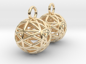 Armilliary Earrings in 14K Yellow Gold