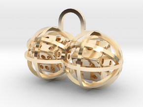 Charm: Lucky Balls in 14K Yellow Gold