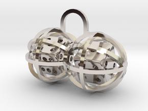 Charm: Lucky Balls in Rhodium Plated Brass