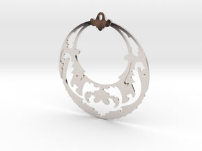 BlakOpal Victorian Open Hoop Earrings in Rhodium Plated Brass