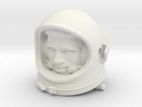 Gemini Astronaut / 1:6 / Helmet, Head Nr 2 in White Natural Versatile Plastic