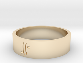 Moon Glyph Air in 14k Gold Plated Brass