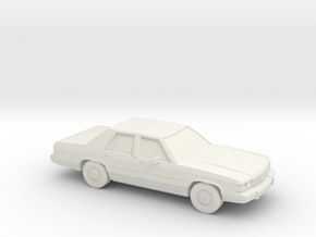 1/87 1989 Ford Crown Victoria  in White Natural Versatile Plastic
