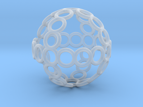 Charm: Sphere of Rings in Smooth Fine Detail Plastic