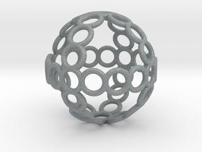 Charm: Sphere of Rings in Polished Metallic Plastic