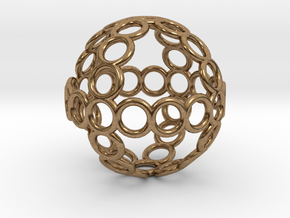 Charm: Sphere of Rings in Natural Brass