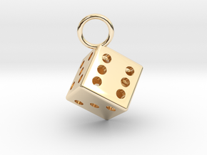 Charm: Dice in 14K Yellow Gold